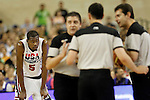 USA's Kevin Durant and the referees during friendly match.July 22,2012. (ALTERPHOTOS/Acero)