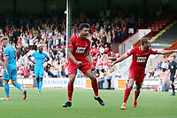 O'sKMAcauley Bonne celebrates after scoring the 3rd goal during Leyton Orient vs Barnet, Vanarama National League Football at The Breyer Group Stadium on 15th September 2018