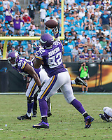 Charlotte, NC - September 25, 2016: The Carolina Panthers play the Minnesota Vikings at Bank of America Stadium.  Final score Minnesota 22, Carolina 10.