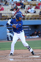 Desmond Jennings (8) of the Las Vegas 51s bats against the Sacramento River Cats at Cashman Field on June 15, 2017 in Las Vegas, Nevada. Las Vegas defeated Sacramento, 12-4. (Larry Goren/Four Seam Images)