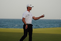 Brandon Stone (RSA) on the final play-off hole during Round 4 of the Oman Open 2020 at the Al Mouj Golf Club, Muscat, Oman . 01/03/2020<br /> Picture: Golffile | Thos Caffrey<br /> <br /> <br /> All photo usage must carry mandatory copyright credit (© Golffile | Thos Caffrey)
