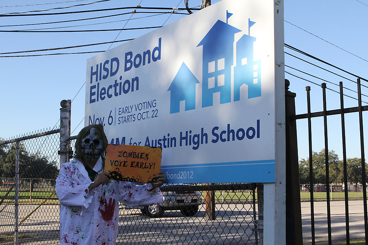 Vote Early Zombie at Austin High School