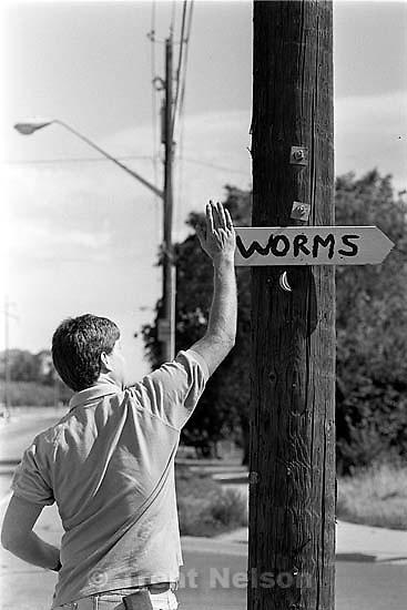 Paul Doerr vs. the Worm People. Paul at work as a Code Enforcement guy.<br />