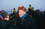 Tony Benn speaking at the Newbury road protest anniversary march .  1997
