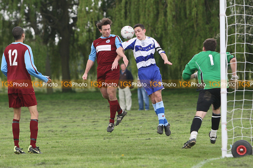 Harold Wood go close to an equalising goal to make it 2-2 - Harold Wood Reserves vs Manford Way Reserves - Essex Olympian League Reserve Division Football at Harold Wood Park - 19/05/12 - MANDATORY CREDIT: Gavin Ellis/TGSPHOTO - Self billing applies where appropriate - 0845 094 6026 - contact@tgsphoto.co.uk - NO UNPAID USE.