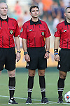 16 August 2014: Fourth official Jeremy Smith. The Carolina RailHawks played FC Edmonton at WakeMed Stadium in Cary, North Carolina in a 2014 North American Soccer League Fall Season match. Edmonton won the match 3-2.