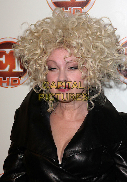 CYNDI LAUPER .Entertainment Tonight Emmy Party Celebrates The 62nd Annual Primetime Emmy Awards at Vibiana, Los Angeles, California, USA..August 29th, 2010.headshot portrait black leather jacket curly blonde hair .CAP/ADM/CH.©Charles Harris/AdMedia/Capital Pictures
