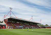 General view of the Stadium during the Friendly match between Crawley Town and Fulham at Broadfield Stadium, Crawley, England on 18 July 2015. Photo by Andy Rowland.