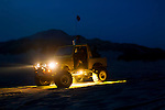 Night shots of 4x4 on dunes with underglow lighting