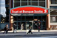 A Trust et Banque Scotia branch office is pictured on Boulevard de Maisonneuve in Montreal October 30, 2008.