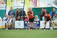 KAATSEN: DONGJUM: 29-05-2016, Hoofdklasse heren Dongjum, Daniël Iseger aan de opslag, ©foto Martin de Jong