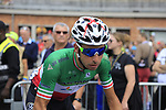 Italian National Champion Fabio Aru (ITA) Astana at sign on in Verviers before the start of Stage 3 of the 104th edition of the Tour de France 2017, running 212.5km from Verviers, Belgium to Longwy, France. 3rd July 2017.<br /> Picture: Eoin Clarke | Cyclefile<br /> <br /> <br /> All photos usage must carry mandatory copyright credit (&copy; Cyclefile | Eoin Clarke)