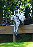 2nd September 2017. Sophie Brown (GBR) riding Wil during the Cross Country Phase of the 2017 Land Rover Burghley Horse Trials, Stamford, United Kingdom. Jonathan Clarke/JPC Images