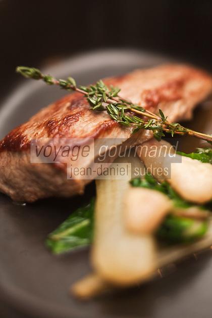Europe/France/Rhône-Alpes/74/Haute-Savoie/Megève: Hôtel-Restaurant: Le Chalet Zannier dont la cuisine est créée par le Chef Julien Burlat et exécutée par  Gerd Govaerts