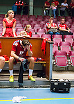 Eskilstuna 2014-05-15 Handboll SM-semifinal Eskilstuna Guif - Alings&aring;s HK :  <br /> Eskilstuna Guif Helge Freiman deppar efter matchen<br /> (Foto: Kenta J&ouml;nsson) Nyckelord:  Eskilstuna Guif Sporthallen Alings&aring;s AHK SM Semifinal Semi depp besviken besvikelse sorg ledsen deppig nedst&auml;md uppgiven sad disappointment disappointed dejected