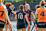 AMSTELVEEN  -  Charlotte Vega (A'dam) heeft gescoord.  Hoofdklasse hockey dames ,competitie, dames, Amsterdam-Groningen (9-0) .     COPYRIGHT KOEN SUYK