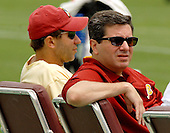 Ashburn, VA - June 16, 2007 -- Washington Redskin owner Daniel Snyder, right, and vice president of football operations Vinny Cerato watch as the players participate in their second and final mini-camp at Redskin Park in Ashburn, Virginia on Saturday, June 16, 2007..Credit: Ron Sachs / CNP