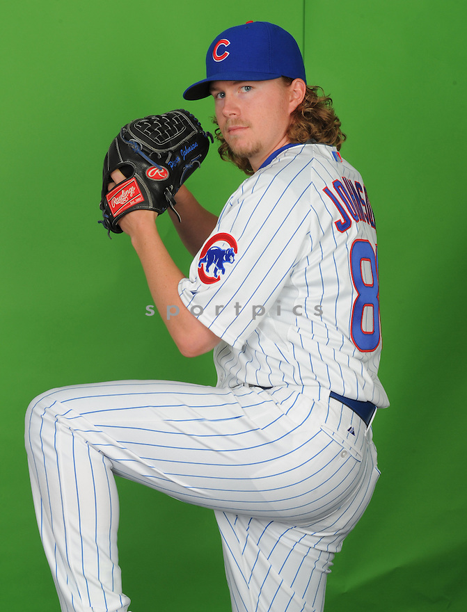 Chicago Cubs Pierce Johnson (80) during photo day on March 2, 2015 in Mesa, AZ.
