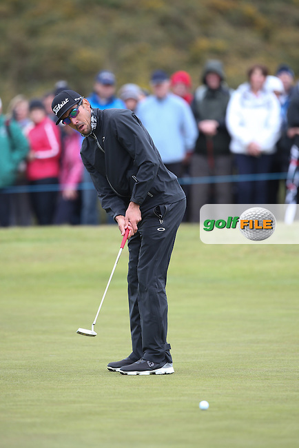 Rafa Cabrera-Bello (ESP) putting on the 17th during Round Three of the 2015 Dubai Duty Free Irish Open Hosted by The Rory Foundation at Royal County Down Golf Club, Newcastle County Down, Northern Ireland. 30/05/2015. Picture David Lloyd | www.golffile.ie