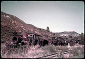 Derelict engines possbily in Dolores or Ridgway.<br /> RGS  Dolores ? Ridgway ?, CO