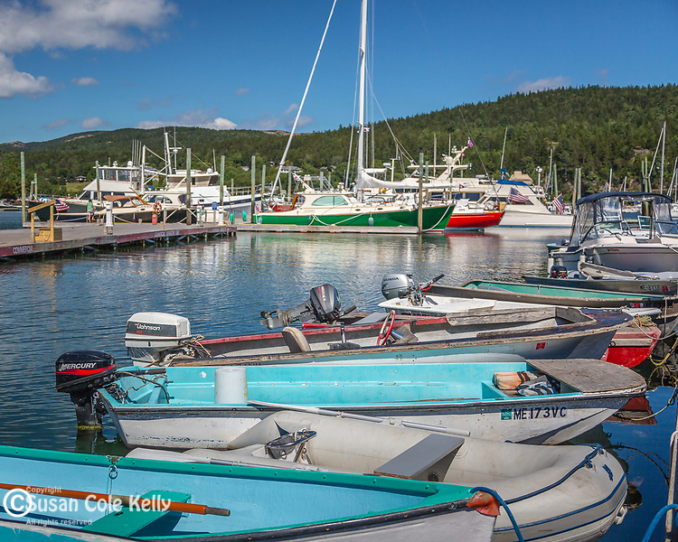 Luxury yachts in Northeast Harbor, Maine, USA