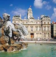 France, Rhône-Alpes, Département Rhône, Lyon: Hôtel de Ville - Place des Terraux | Frankreich, Rhône-Alpes, Département Rhône, Lyon: Hôtel de Ville - Place des Terraux