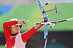 Yuki Hayashi (JPN),<br /> AUGUST 7 2016 - Archery : <br /> Women's teaml final Round <br /> at Sambodromo <br /> during the Rio 2016 Olympic Games in Rio de Janeiro, Brazil. <br /> (Photo by Yusuke Nakanishi/AFLO SPORT)