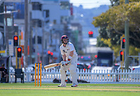 Tim Seifert bats on day two of the Plunket Shield cricket match between Wellington Firebirds and Northern Districts in Wellington, New Zealand on Monday, 26 March 2018. Photo: Dave Lintott / lintottphoto.co.nz