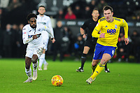 Nathan Dyer of Swansea City vies for possession with Craig Gardner of Birmingham City during the Sky Bet Championship match between Swansea City and Birmingham City at the Liberty Stadium in Swansea, Wales, UK. Tuesday 29 January 2019