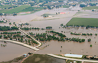 Hwy 34 washout, Greeley, Colorado.  Flooding of South Platte River.