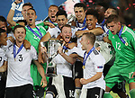 Germany's Maximilian Arnold celebrates with the trophy during the UEFA Under 21 Final at the Stadion Cracovia in Krakow. Picture date 30th June 2017. Picture credit should read: David Klein/Sportimage