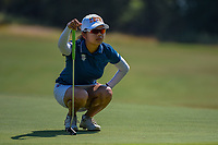 Wei-Ling Hsu (TPE) lines up her putt on 12 during the round 3 of the Volunteers of America Texas Classic, the Old American Golf Club, The Colony, Texas, USA. 10/5/2019.<br /> Picture: Golffile   Ken Murray<br /> <br /> <br /> All photo usage must carry mandatory copyright credit (© Golffile   Ken Murray)