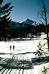 Montana: Lone Mountain, Cross Country skiing, skiers,  Photo: mtbose101.Photo copyright Lee Foster, www.fostertravel.com, 510/549-2202, lee@fostertravel.com