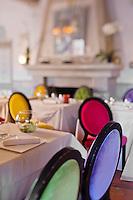 Europe/France/2B/Haute Corse/Balagne/Calvi: Hôtel-Restaurant: La Signoria, la salle du restaurant
