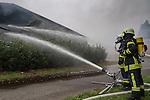 20161027 Brand Gärtrocknungsanlage einer Biogasanlage Vechta / Niedersachsen