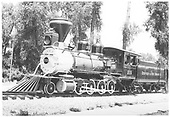 3/4 fireman's-side view of D&amp;RGW #315 displayed in park in Durango.<br /> D&amp;RGW  Durango, CO  after 1950