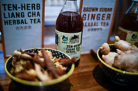 NEW YORK, NY - JUNE 25: Te products are seen at a stand during the Summer Fancy Food Show at the Javits Center in the borough of Manhattan on June 23, 2019 in New York, The Summer Fancy Food Show is the largest and biggest specialty food industry event in the continent (Photo by Eduardo MunozAlvarezVIEWpress/Corbis via Getty Image
