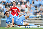 27 November 2011: Indiana's Patrick Doody. The University of North Carolina Tar Heels defeated the Indiana University Hoosiers 1-0 in overtime at Fetzer Field in Chapel Hill, North Carolina in an NCAA Men's Soccer Tournament third round game.