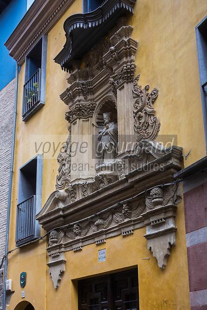 Espagne, Navarre, Pampelune, Chapelle Escuela de Christo  // Spain, Navarra, Pamplona, Town Hall and San Saturnino Church,  Escuela de Christo   chapel