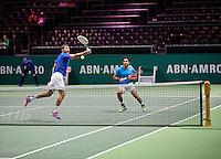 Februari 12, 2015, Netherlands, Rotterdam, Ahoy, ABN AMRO World Tennis Tournament, Aisam-Ul-Haq Qureshi (PAK) / Nedad Zimonjic (SRB) <br /> Photo: Tennisimages/Henk Koster