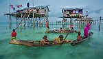 Bajau seaborne settlement, Semporna, Sabah, Malaysia<br />