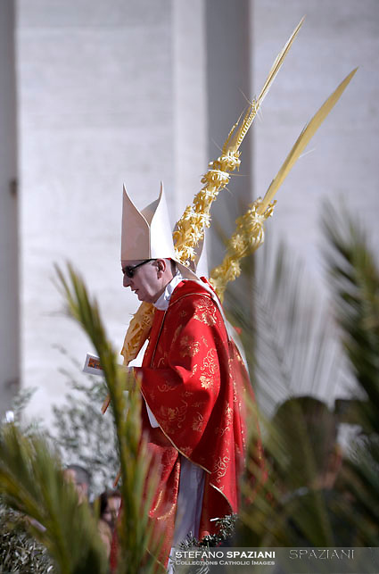 Cardinal Pietro Parolin.Pope Francis during of the Palm Sunday celebration on St Peter's square at the Vatican.April 24,2018