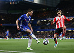 Chelsea's Cesar Azpilicueta tussles with Southampton's Manolo Gabbiadini during the Premier League match at Stamford Bridge Stadium, London. Picture date: April 25th, 2017. Pic credit should read: David Klein/Sportimage