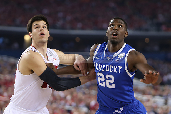 Kentucky Wildcats forward Alex Poythress (22) waits for the rebound during the NCAA Final Four vs. Wisconsin at the AT&T in Arlington, Tx., on Saturday, April 5, 2014. Photo by Emily Wuetcher | Staff