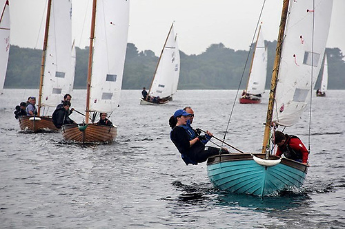 Frank Guy leads the Shannon ODs at Dromineer – he went on to wind the LDYC Regatta 2020 overall.