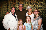 Robert Bogue and Mandy Bruno with Eckstein family - Anthony, Sylvia, Francesca and Michelle - Day 3 - August 2, 2010 - So Long Springfield at Sea - Carnival's Glory (Photos by Sue Coflin/Max Photos)