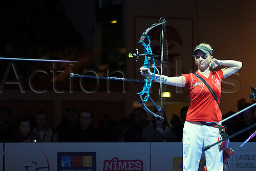 17.01.2016. Nimes, France. The Arc club Nimes Indoor World Championships of Archery.  Vandionant Sandrine (FRA)