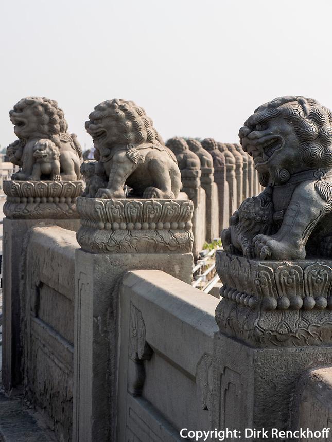 MarcoPolo-Br&uuml;cke in Peking, China, Asien<br /> MarcoPolo-bridge, Beijing, China, Asia