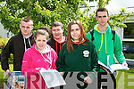 LEAVING CERT: Students of Killorglin Community College who completed their first paper of the leaving Cert on Wednesday L-r: Gavin O'Connor (Beaufort), D anielle O'Connor (Glenbeigh), Jason Sheehan (Carragh Lake) Molly Begley (Rangue) and Dan Horgan (Killorglin).
