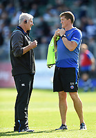 Bath Director of Rugby Todd Blackadder and Stuart Hooper. Aviva Premiership match, between Bath Rugby and Newcastle Falcons on September 23, 2017 at the Recreation Ground in Bath, England. Photo by: Patrick Khachfe / Onside Images